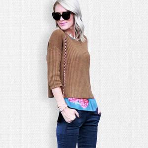 Cabi • #3364 Dijon Mustard Luna Pullover Sweater